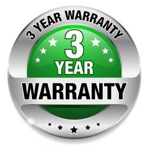 3 year warranty graphic