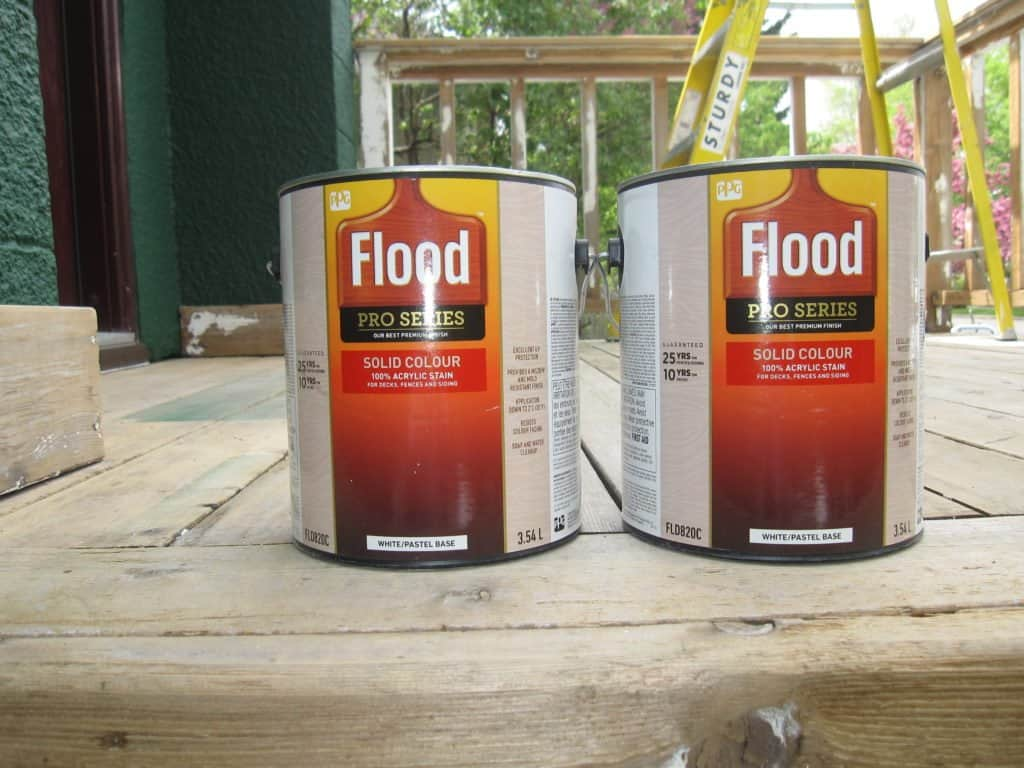 Flood Stain Paint cans