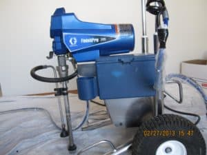 Graco 395 finish Pro Sprayer Picture by eco star painting