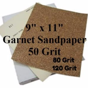 """Sandpaper 9"""" X 11"""" sheets of various grits"""