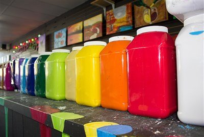 Picture of colorful paint. Paint Disposal in Calgary