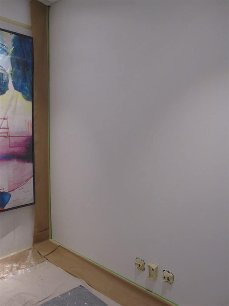 Idea Paint  whiteboard coating applied by Eco Star Painting for Anstice Communications in Calgary