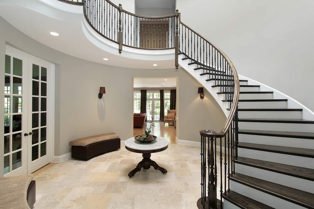 Large Foyer in a luxury home